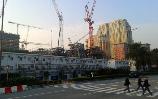 parisian, macau, casino, hotel, construction