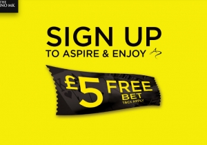 Sign up to Aspire and enjoy a £5 free bet