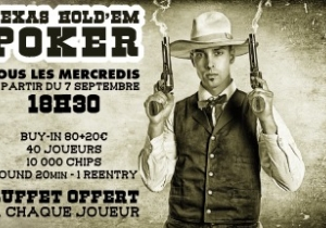 Mercredis - Tournois de Poker
